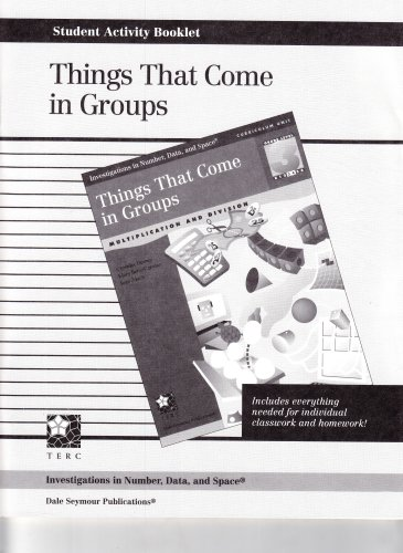 9781572327054: INVESTIGATIONS GR 3 STUDENT ACTIVITY BOOKLET: THINGS THAT COME IN GROUPS