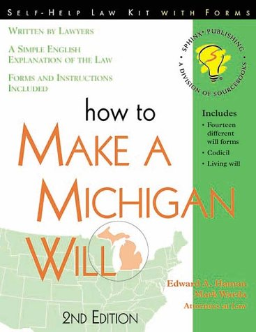 9781572480773: How to Make a Michigan Will: With Forms (Self-Help Law Kit With Forms)