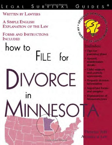 9781572481428: How to File for Divorce in Minnesota