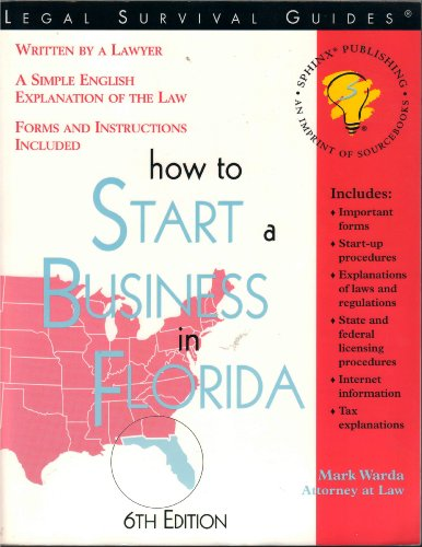 9781572481527: How to Start a Business in Florida
