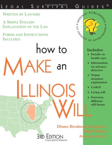 9781572481701: How to Make an Illinois Will, 3E