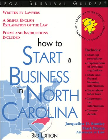 9781572481848: How to Start a Business in North Carolina (Legal Survival Guides)