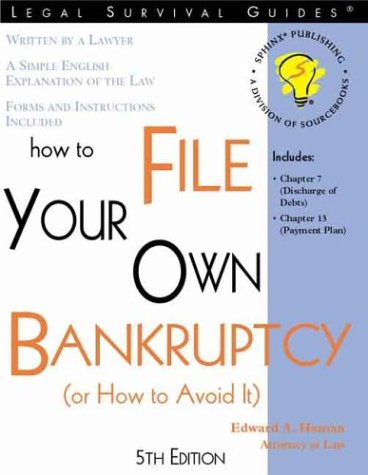 9781572481916: How to File Your Own Bankruptcy: (Or How to Avoid It)
