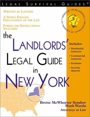 9781572481978 The Landlords Legal Guide In New York Survival Guides