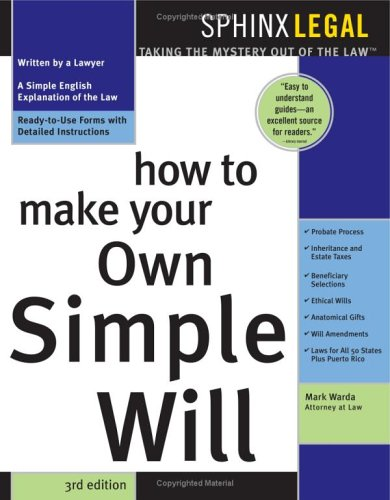 9781572482326: How to Make Your Own Simple Will