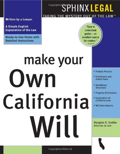 9781572482463: Make Your Own California Will