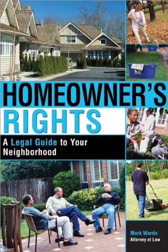 9781572483347: Homeowner's Rights: A Legal Guide to Your Neighborhood