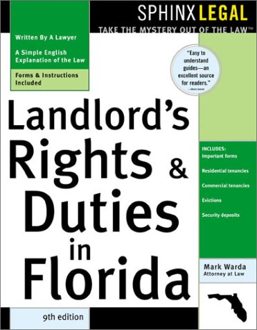 """9781572483385: """"Landlord's Rights and Duties in Florida, 9E"""" (Landlords' Rights & Duties in Florida)"""