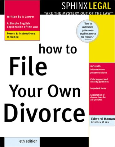 How To File Your Own Divorce Legal Edward A Haman