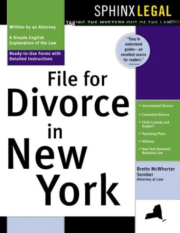 9781572483514 File For Divorce In New York Sphinx Legal