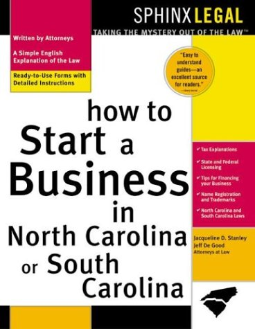 9781572483712: How to Start a Business in North Carolina or South Carolina