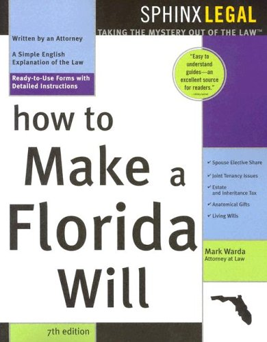 9781572484566: How to Make a Florida Will (Legal Survival Guides)