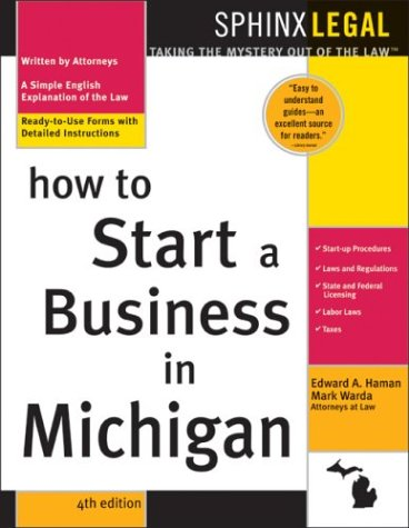 9781572484689: How to Start a Business in Michigan, 4E