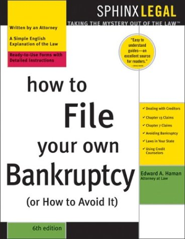 9781572484726: How To File Your Own Bankruptcy (Or How To Avoid It)