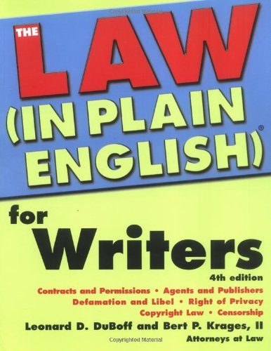 Law In Plain English for Writers (In Plain English): Leonard Duboff, Bert Krages