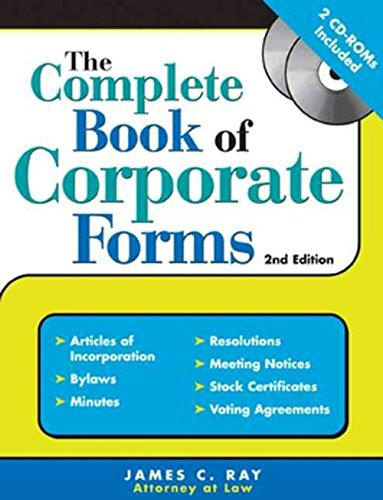 9781572485075: The Complete Book of Corporate Forms: From Minutes to Annual Reports and Everything in Between