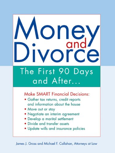 9781572485242: Money and Divorce: The First 90 Days and after...