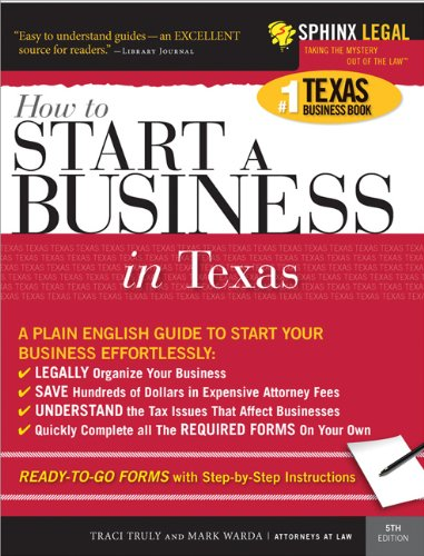 9781572485600: Start a Business in Texas (Legal Survival Guides)