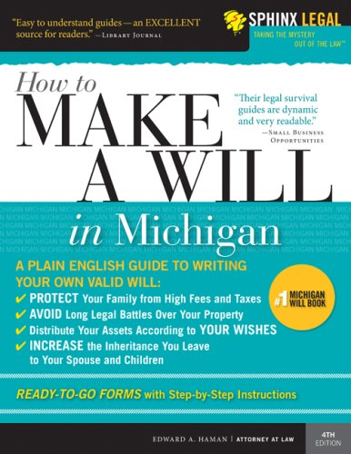 9781572486584: How to Make a Will in Michigan, 4E (Legal Survival Guides)