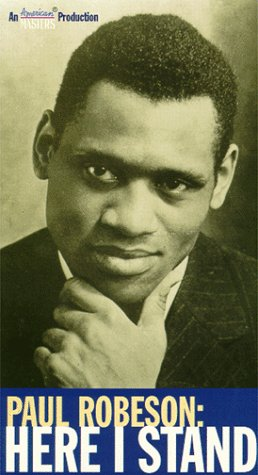 9781572525528: Paul Robeson: Here I Stand [VHS]