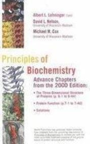 9781572598928: Principles of Biochemistry: Advance Chapters from the 2000 Edition