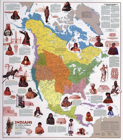 9781572622869: Indians of North America: Illustrated Ethnological Map : 33