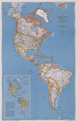 9781572623019: National Geographic the Americas: Continent Maps (NG Country & Region Maps)