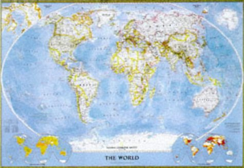 9781572624450: National Geographic World Political Standard Size Map : Rolled 43 1/2 X 30 1/4