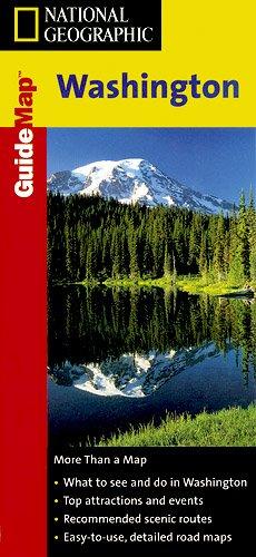 9781572625310: National Geographic Guide Map Washington (National Geographic GuideMaps)
