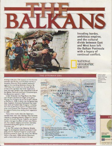 9781572625365: The Balkans: National Geographic Map