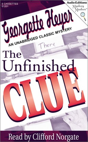 The Unfinished Clue (9781572702011) by Heyer, Georgette