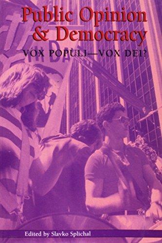 9781572733404: Public Opinion and Democracy: Vox Populi-Vox Dei (Hampton Press Communication Series: Political Communication)