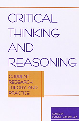 9781572734609: Critical Thinking and Reasoning: Current Research, Theory, and Practice (Perspectives on Creativity)