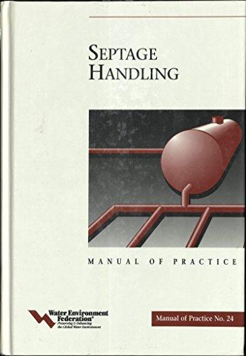 9781572780606: Septage Handling - Mop 24 (Wef Manual of Practice, No. 24)