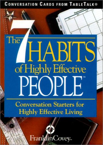 9781572813953: The 7 Habits of Highly Effective People: Conversation Cards from TableTalk: Conversation Starters for Highly Effective Living
