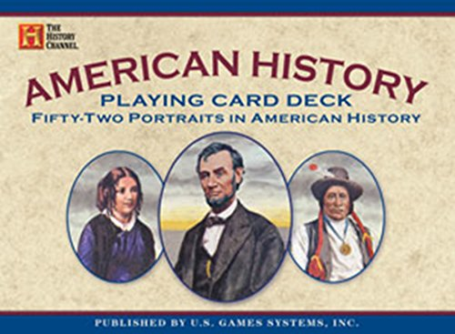 American History Playing Card Deck: Fifty-two Portraits in American History (History Channel): ...