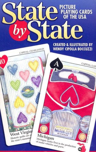 9781572815445: State by State Picture Playing Cards of the USA