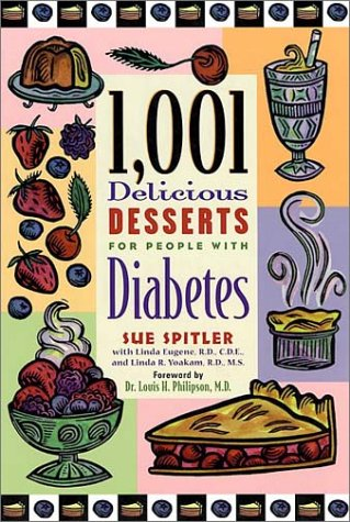 1,001 Delicious Desserts for People with Diabetes: Sue Spitler; Editor-R.D.