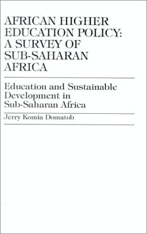 9781573092937: African Higher Education Policy: A Survey of Sub-Saharan Africa