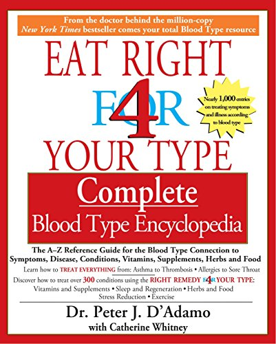 Eat Right for 4 Your Type: Complete Blood Type Encyclopedia: D'Adamo, Peter