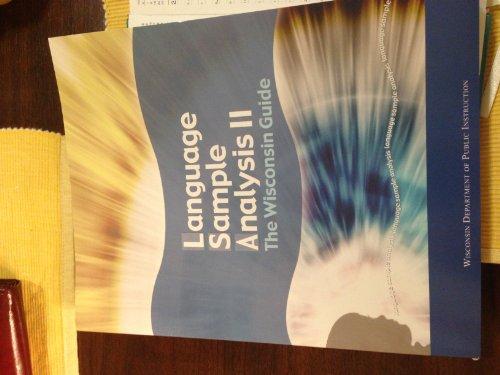 9781573371186: Language Sample Analysis II: The Wisconsin Guide