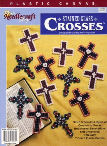 9781573670166: Plastic Canvas Stained Glass Crosses (400186)