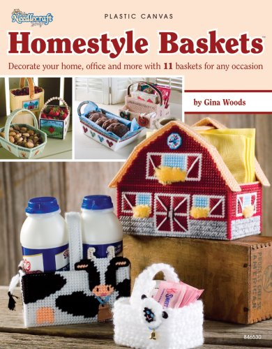 PLASTIC CANVAS} Homestyle Baskets: Decorate Your Home, Office and More with 11 Baskets for Any ...