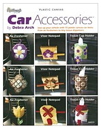 Car Accessories Plastic Canvas Pattern Book By DRG DRG Interesting Plastic Canvas Pattern Books