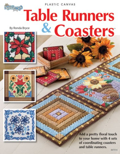 PLASTIC CANVAS} Table Runners & Coasters: Add a Pretty Floral Touch to ,your Home with 4 Sets ...
