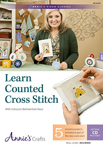 9781573674225: Learn Counted Cross Stitch: With Instructor Belinda Karls-Nace