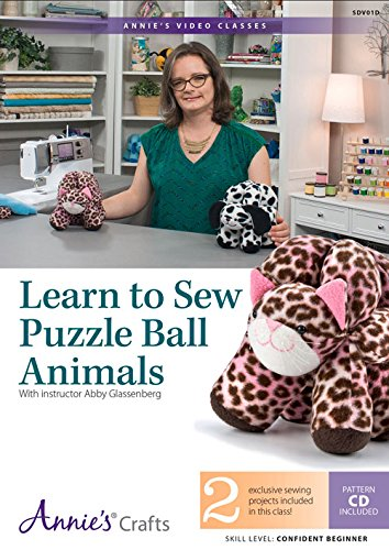 9781573678919: Learn to Sew Puzzle Balls Animals DVD: With Instructor Abby Glassenberg