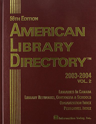 9781573871600: American Library Directory 2003-2004: 56th Edition