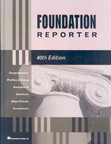 Foundation Reporter (TAFT FOUNDATION REPORTER): Romaniuk, Bohdan R.