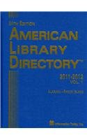 9781573874113: American Library Directory 2011-2012